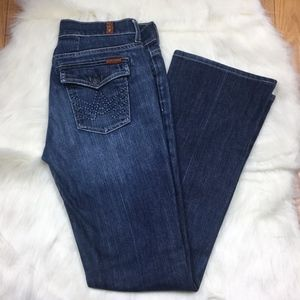 7 For All Mankind Light Wash Bootcut Jeans Size 29